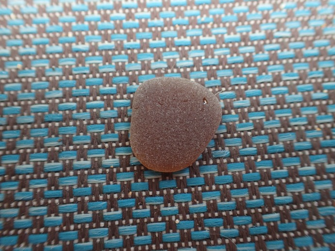 Frosted Brown Sea Glass 3 Medium Large Pieces