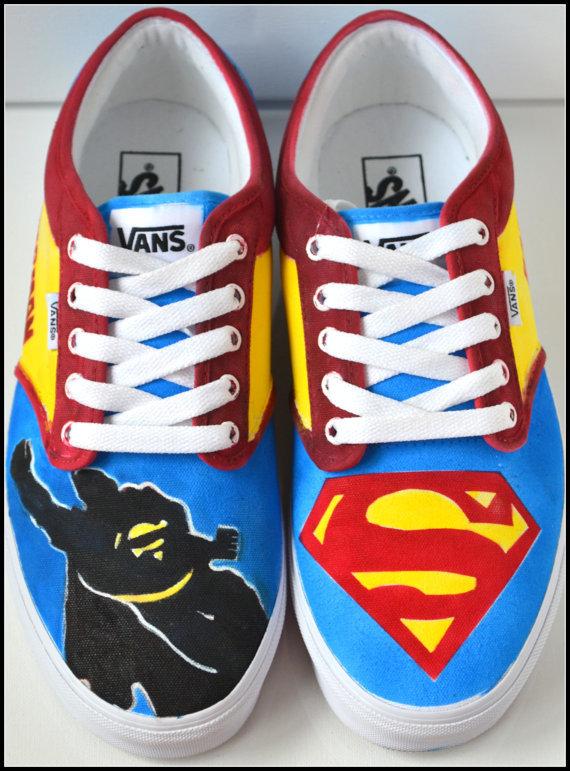 Diy Shoe Designs Superheroes Logo Batman