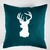 Decorative pillow cover for couch pillow 16x16 inch - Reindeer white hand  print