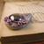 Metallic purple and silver steampunk dragon egg pendant