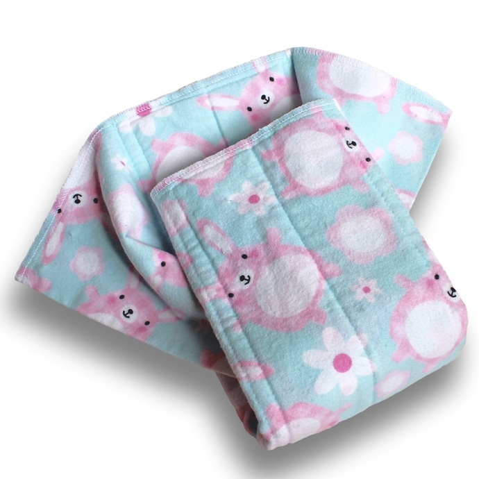 Newborn Prefold Cloth Baby Diapers. Reusable Cotton Flannel Nappies. Burp