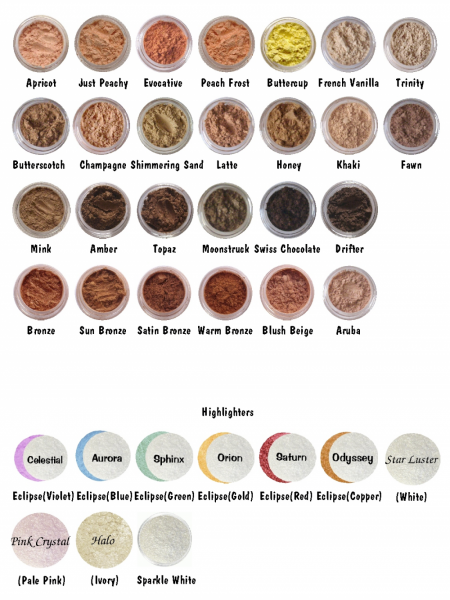 Mineral Eye Shadow Choose your shade