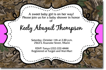 Camouflage Baby Shower Invitations (Download JPG IMMEDIATELY)