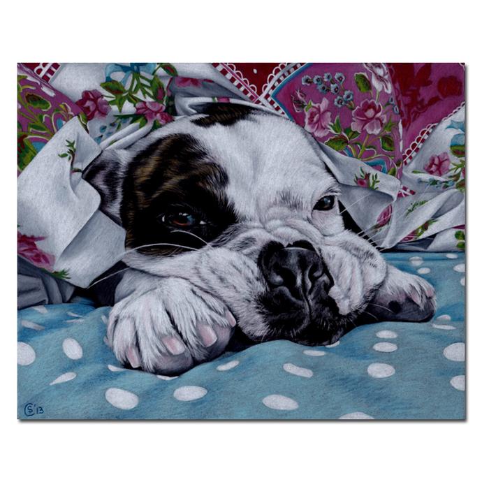 "11x14"" COMMISSION PET Custom PORTRAIT Sandrine Curtiss Original Art animal"