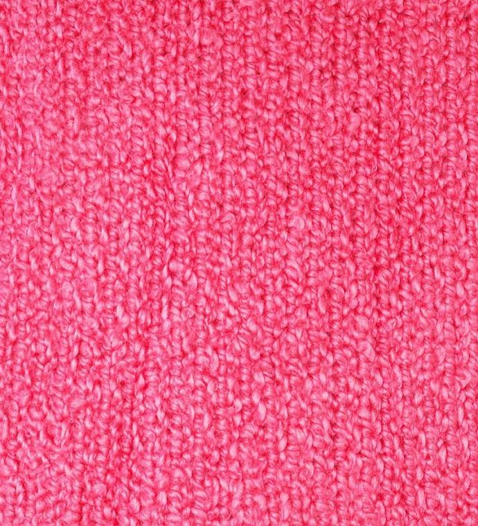 Coral Pink  Cotton Boucle Short Sleeve Sweater, Size Medium