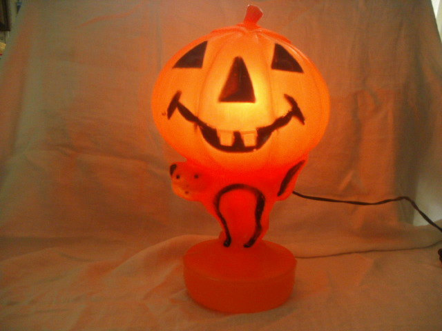 vintage halloween plastic blow mold pumpkin shirtsdefense