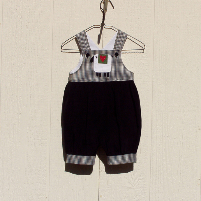 Corduroy Romper with Appliqued Lamb Size 6 Month