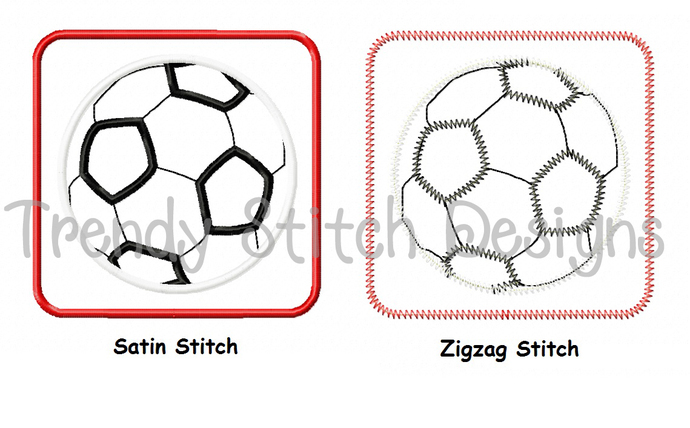 Soccer Ball Patch Applique Machine Embroidery Design