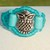Owl Ring Teal & Turquoise Size  6