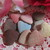 20pcs Fabric Heart Buttons - 25mm Earth tones