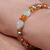 Pearl aquamarine and amber bracelet