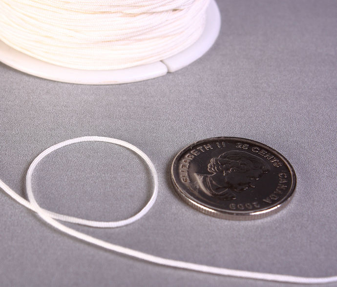 1mm white nylon cord - nylon thread - chineese Knotting Cord - Macrame thread -