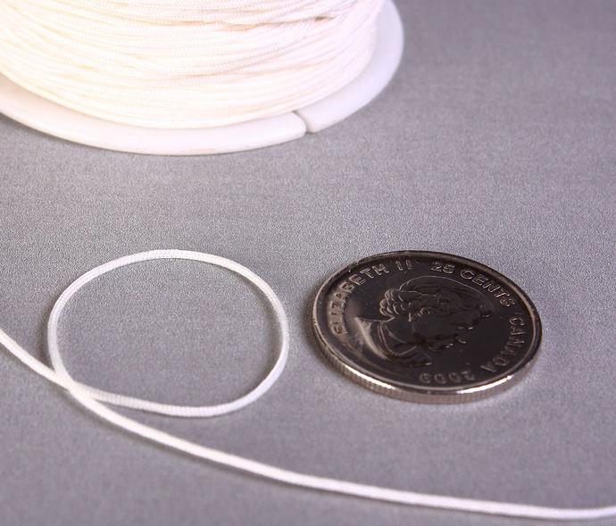 1mm white nylon cord - nylon thread - chineese Knotting Cord - Macrame thread -