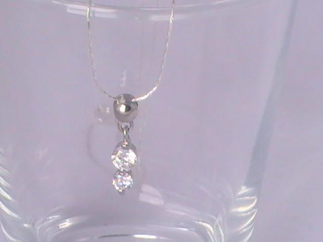 Sterling Silver Necklace with CZ Pendent