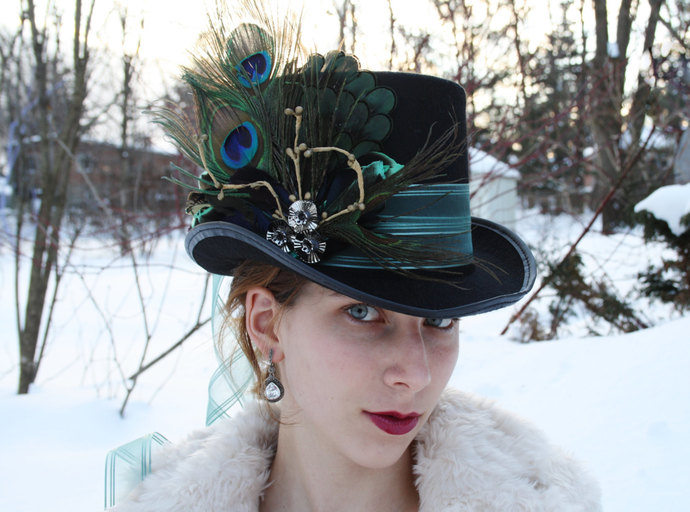 mad hatter top hat alice in wonderland top hat steampunk top hat mardi gras hat
