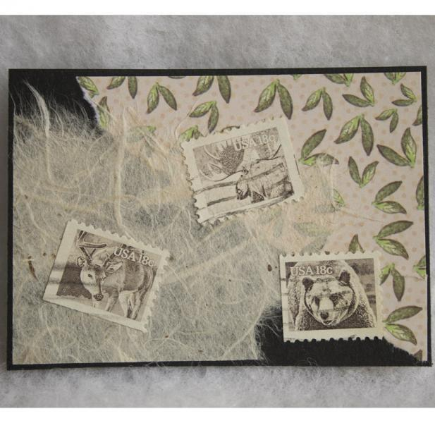 Sepia Wildlife collage ACEO