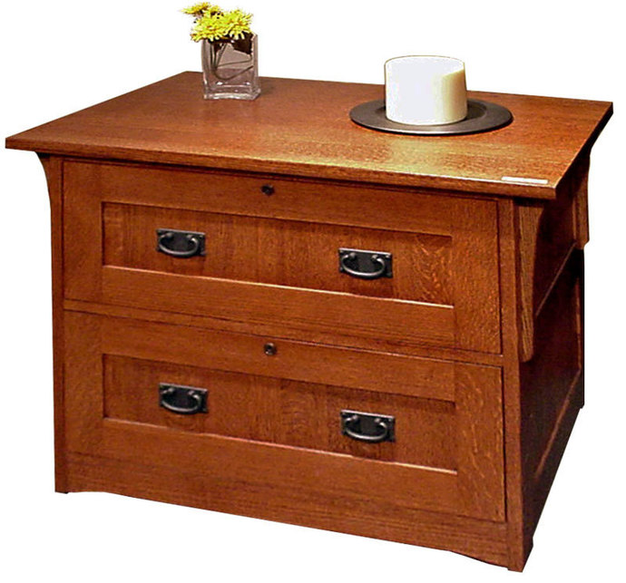 Mission Style 2 Drawer Lateral File   E-GALLERY FURNITURE
