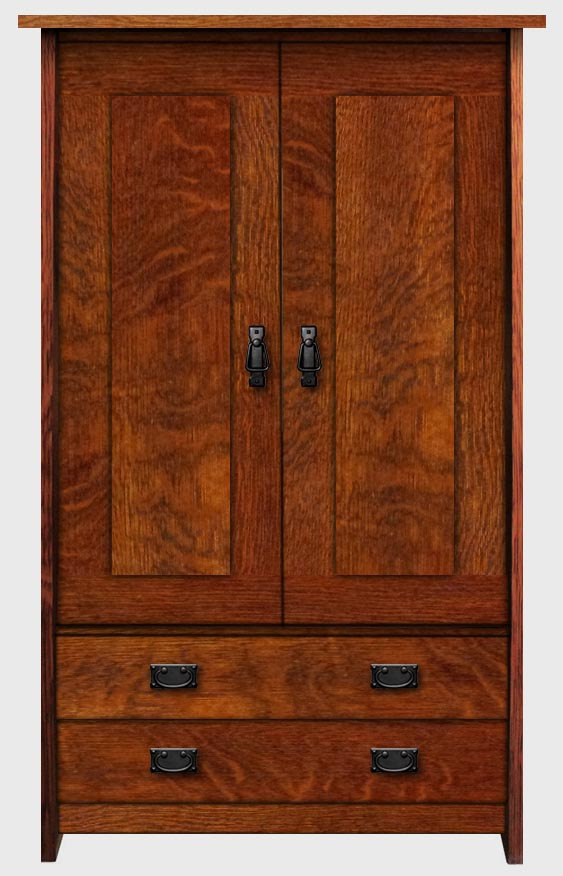 Stealth arts and crafts mission e gallery furniture for Armoire penderie style japonais