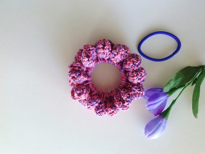 Crochet Hair Scrunchie by Custom Crochet