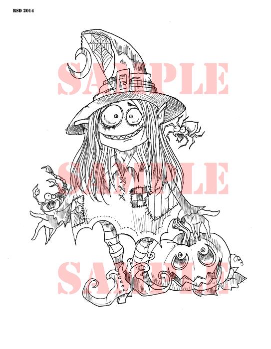MAGYK Moana Witch digi stamp