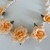Orange Cold Porcelain Floral Necklace