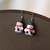 Snowman earrings with Santa hat