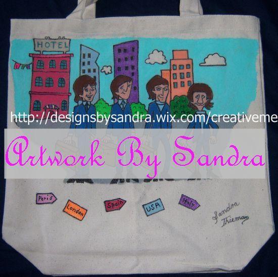 "Beatles Cartoon Tote Bag ""Across the Universe"""