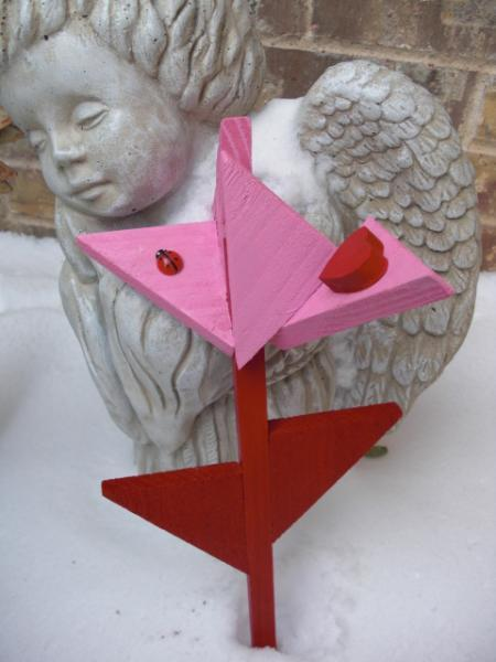 Plant Stakes - Flower - Valentine by ABCbirdhouses