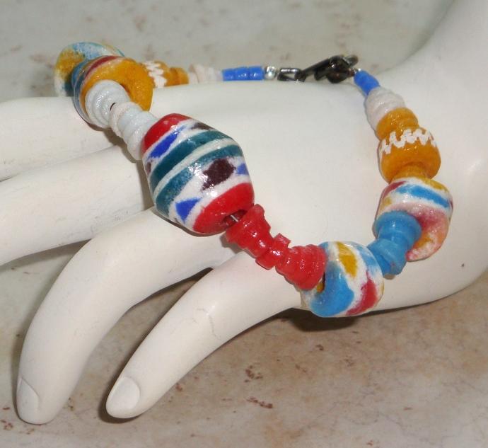 Bright Colored Krobo Bracelet