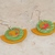 Bicolor Half Circle Polymer Clay Earrings