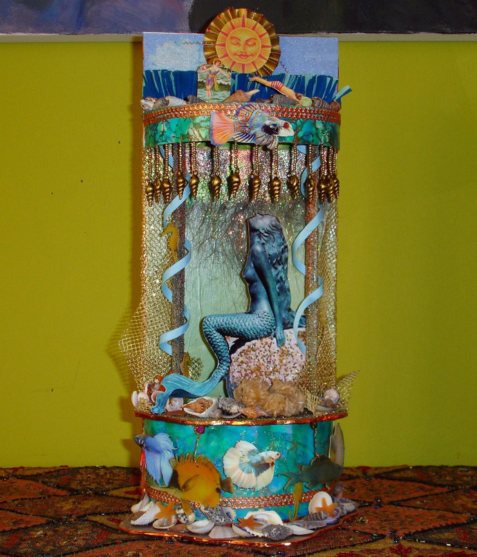 Little Mermaid Mini Theatre OOAK Multi-Level