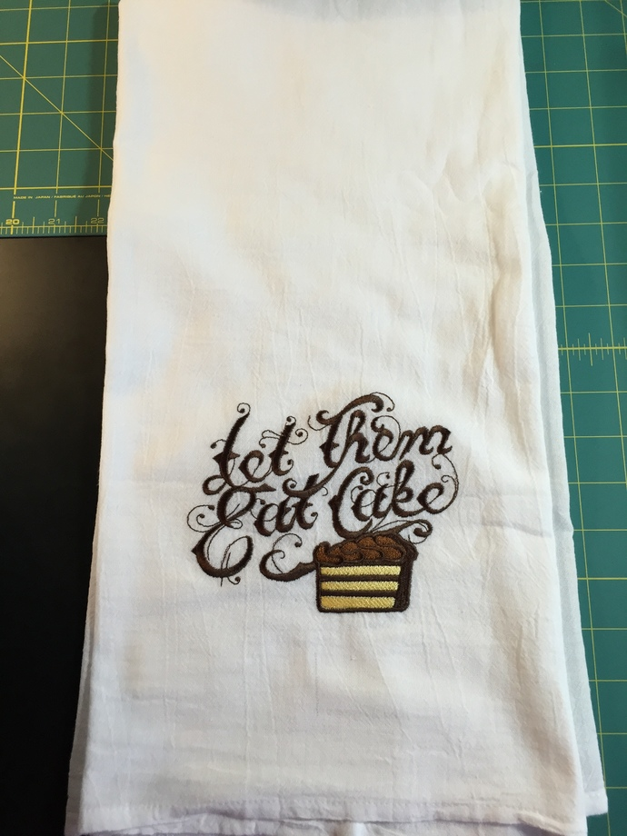 LET THEM EAT CAKE flour sack towel