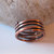 Copper spiral ring, copper ring, metal spiral ring