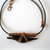 Obsidian dolphin pendant, copper tubing and leather cord necklace, dolphin