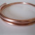 Hand forged copper bangle/bracelet made with very heavy copper wire, metal