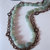 Aquamarine and antique copper chain triple strand long necklace, copper necklace