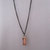 Unisex copper necklace with copper tube bead, brass jump ring and dark copper