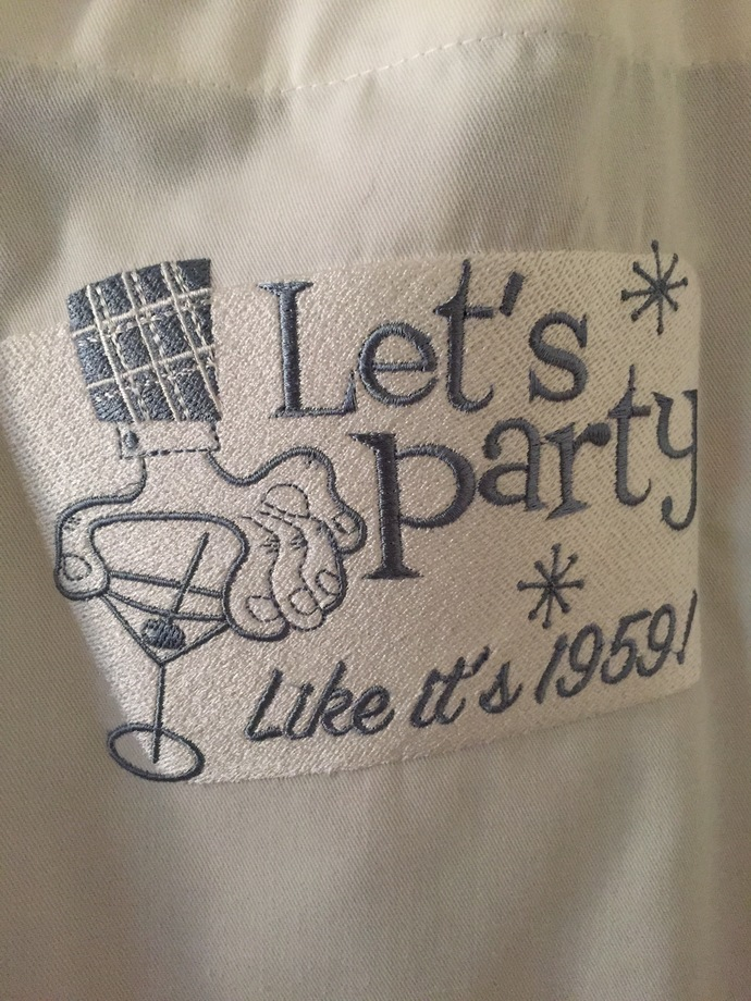 PARTY LIKE ITS 1959 bibbed apron