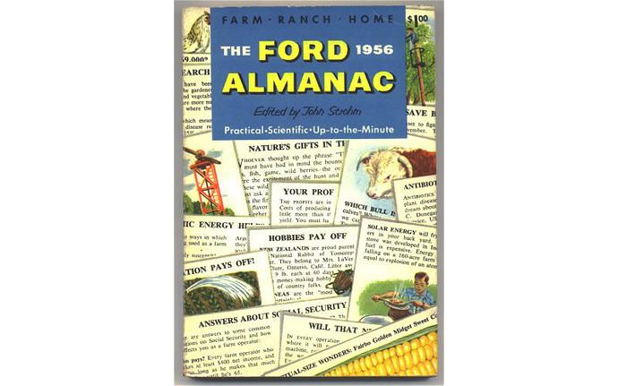 Vintage 1956 Ford Almanac Farm Ranch Home Book