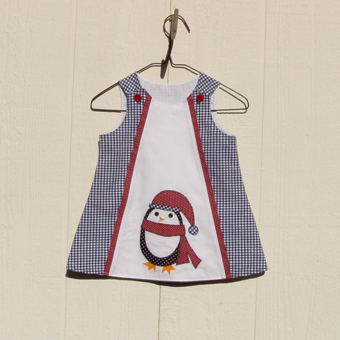 Penguin Appliqued Dress Size 12 Months