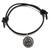 Life belt bracelet- sterling silver 925 pendant on leather cord