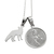 Wisdom necklace - Forest Goddess with fox pendant- Sterling silver 925