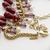 Vintage Victorian Revival Garnet Acrylic Beaded Fringe Collar Bib Necklace Avon