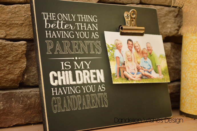 grandparents photo frame the only thing better than having you as parents is