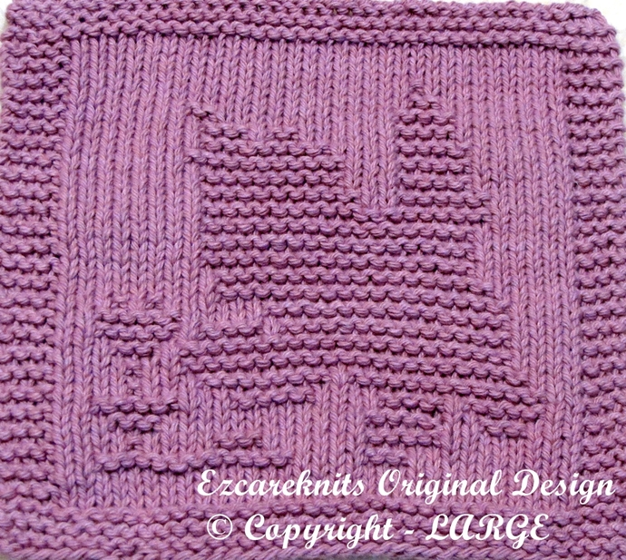 CURIOUS KITTY - Cloth Knitting Pattern - PDF