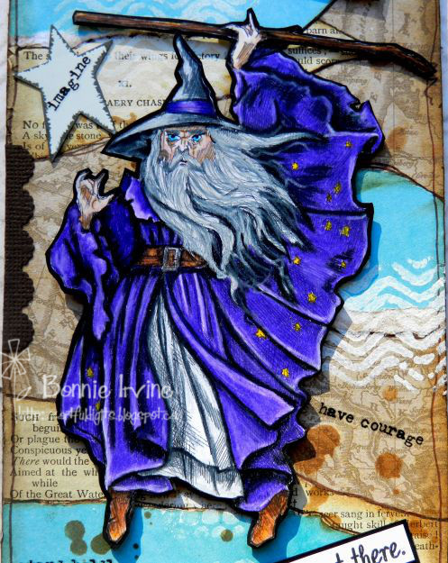 Gandalf wiZarD digital stamp