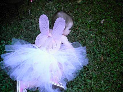 Butterfly Kisses - White ballerina length Fluff N
