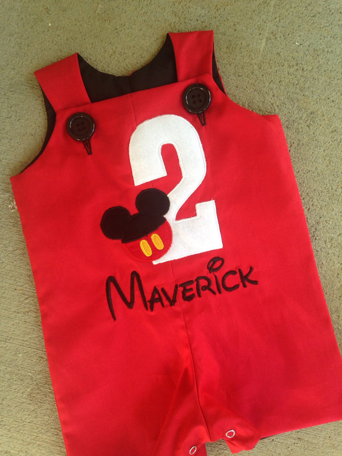Second birthday MICKEY's outfit