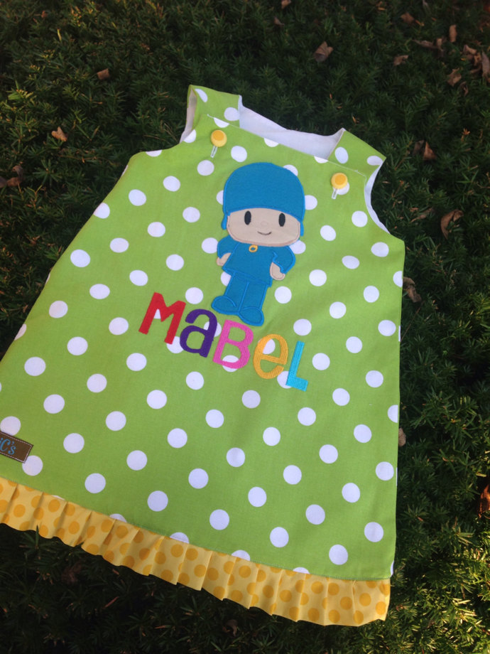 "HANDMADE Pocoyo ""A"" line dress"