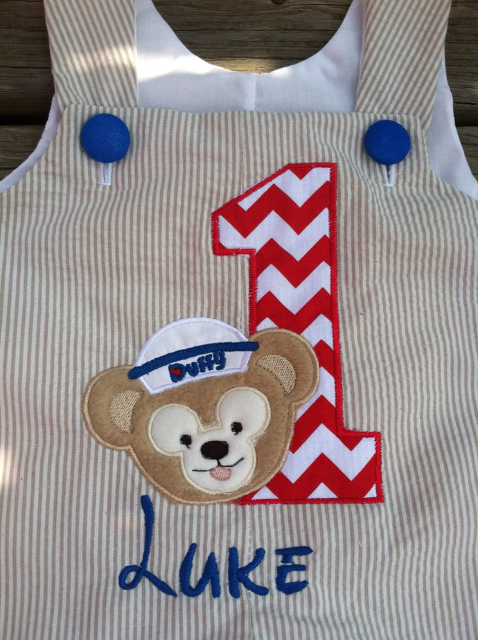 Duffy mickeys pet custom boutique shortall romper Jon Jon